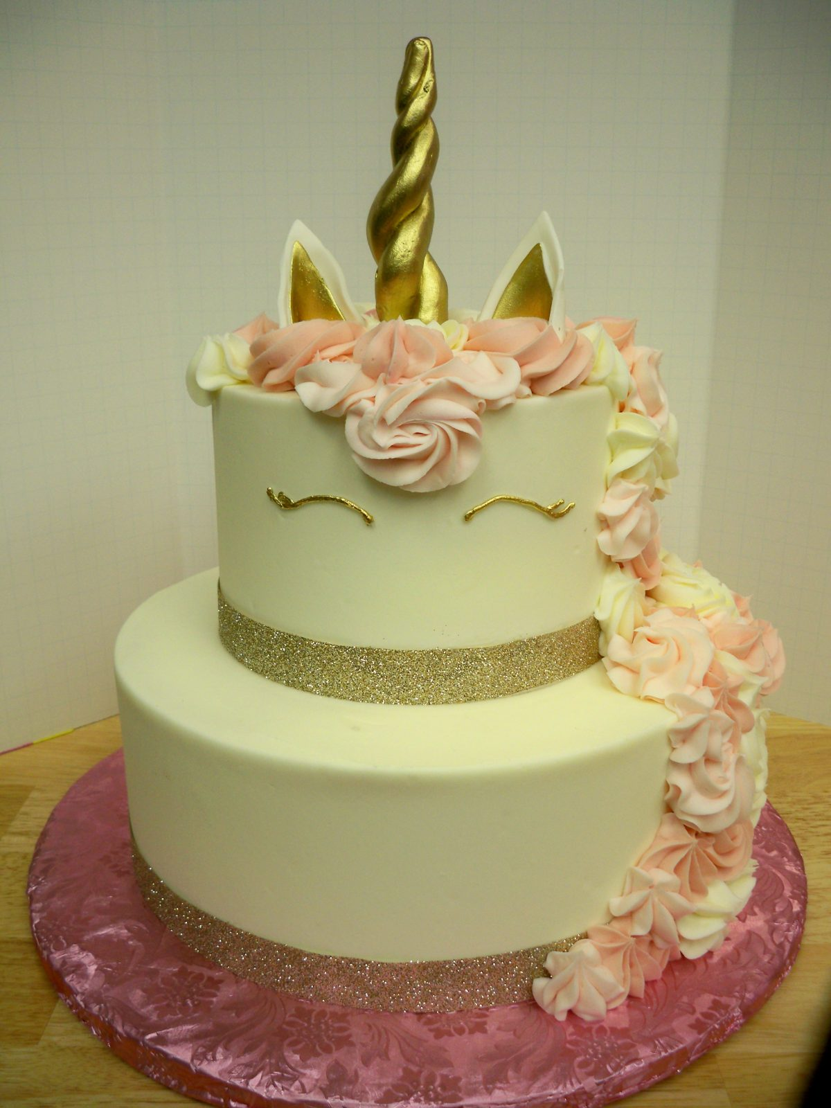 unicorn head, two tier unicorn cake, magical cake