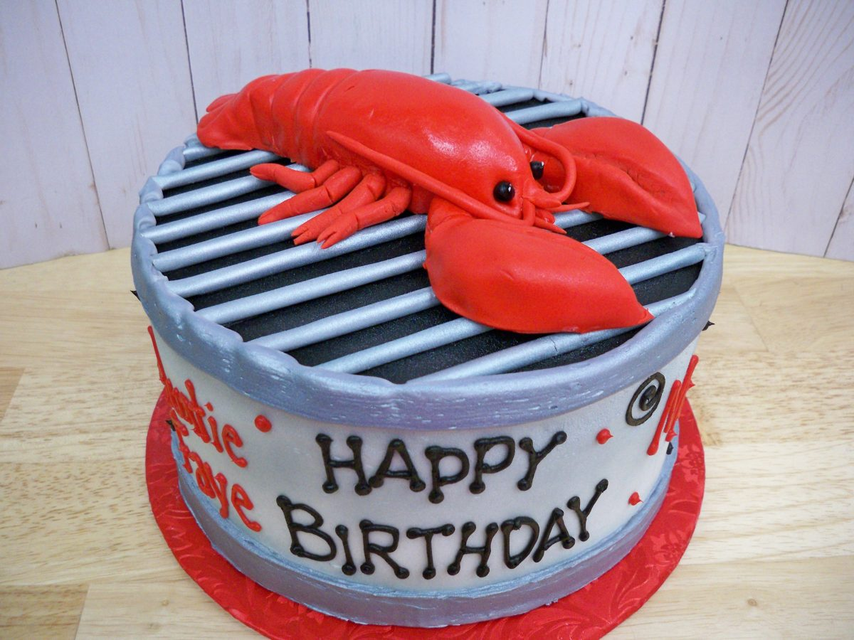 lobster birthday cake, 3D lobster cake