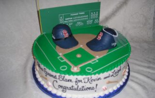wedding shower cake, fenway cake