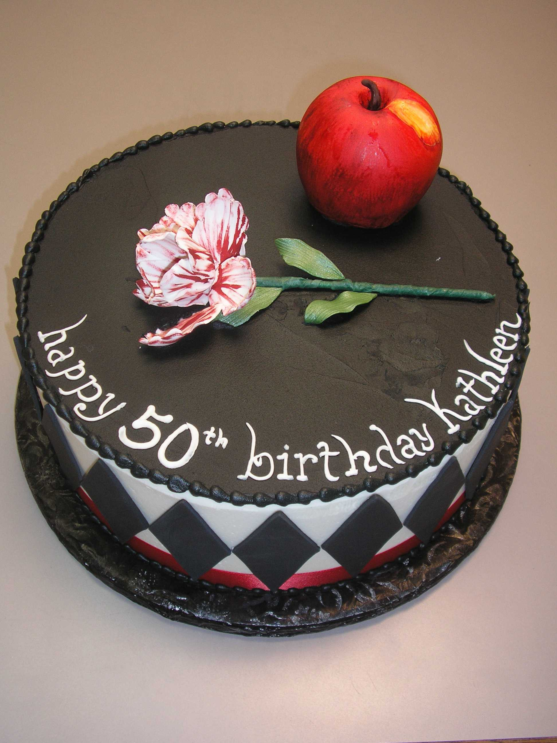 Cake with an apple