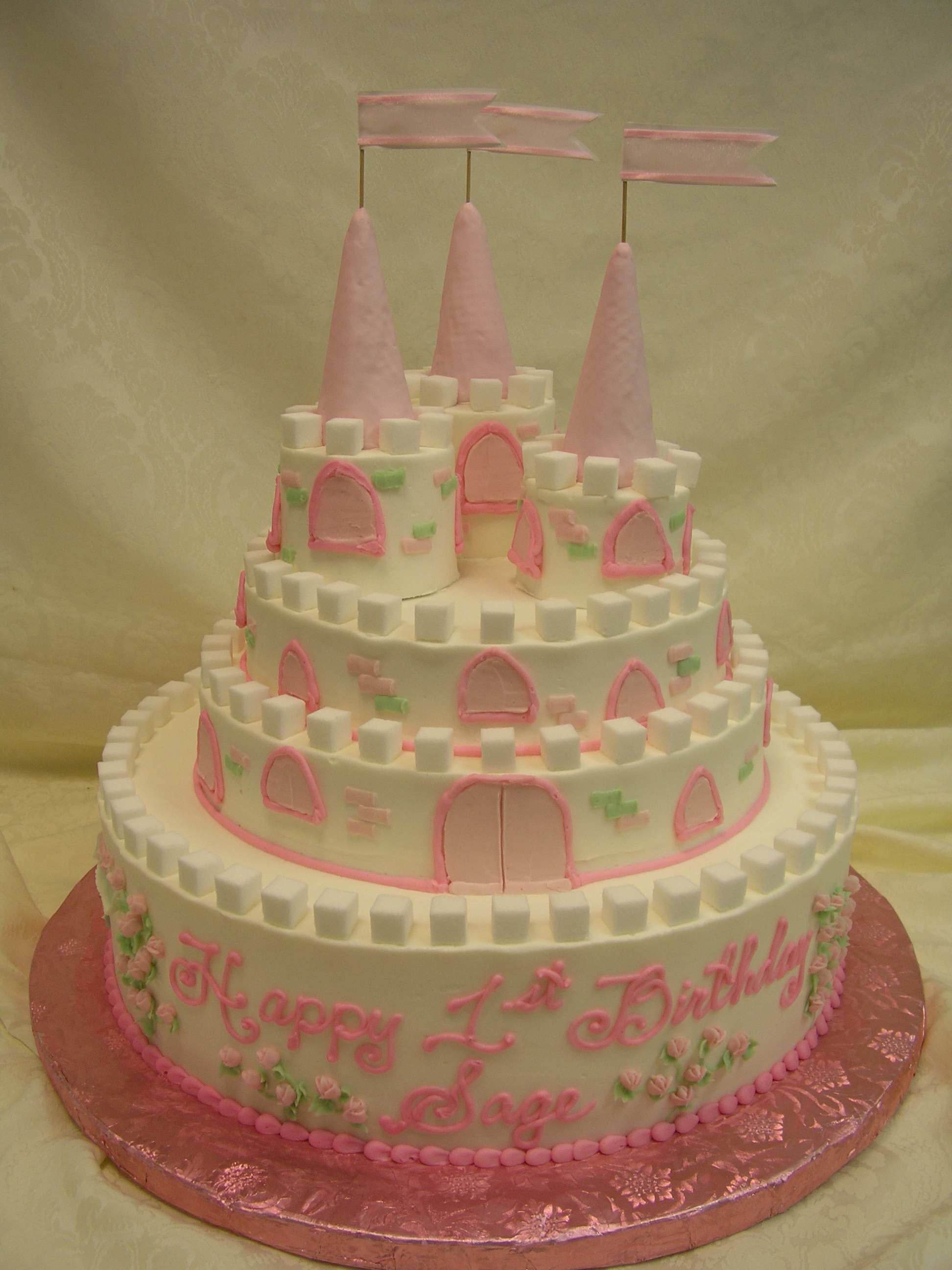 multi tier castle cake