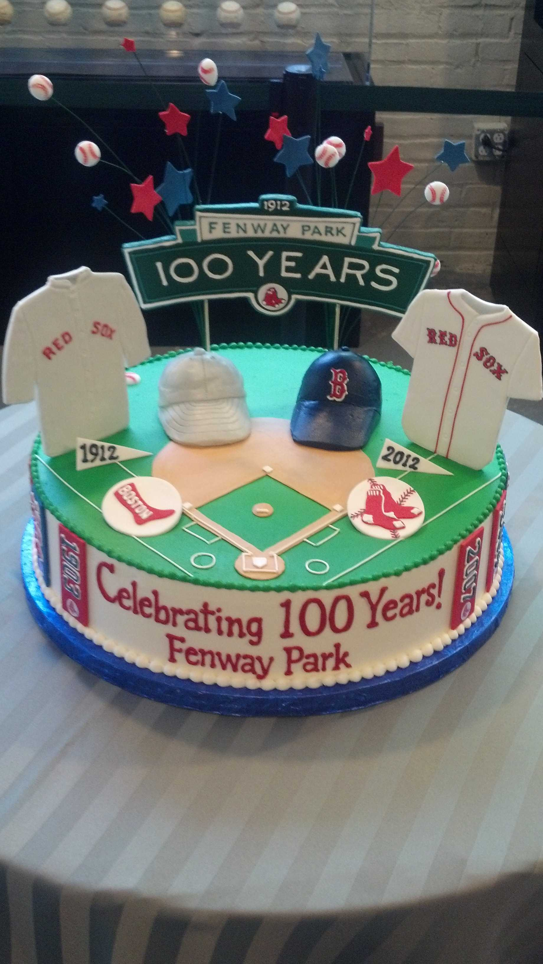 red sox cake