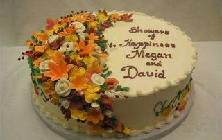arc of flowers cake