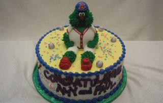 3D wally the green monster cake