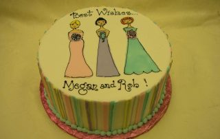bridesmaid wedding shower cake