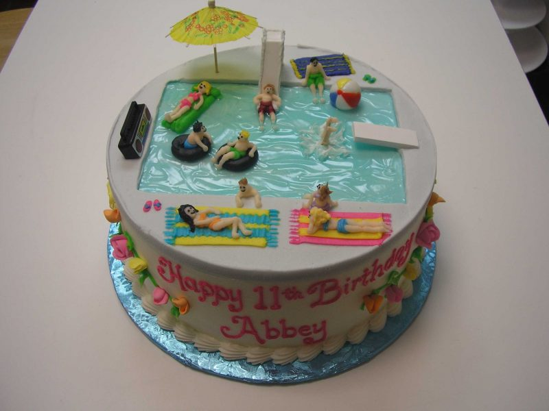 pool party cake