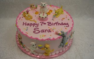 Piped on cat cake, kitty cake,