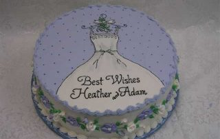 wedding gown bridal shower cake