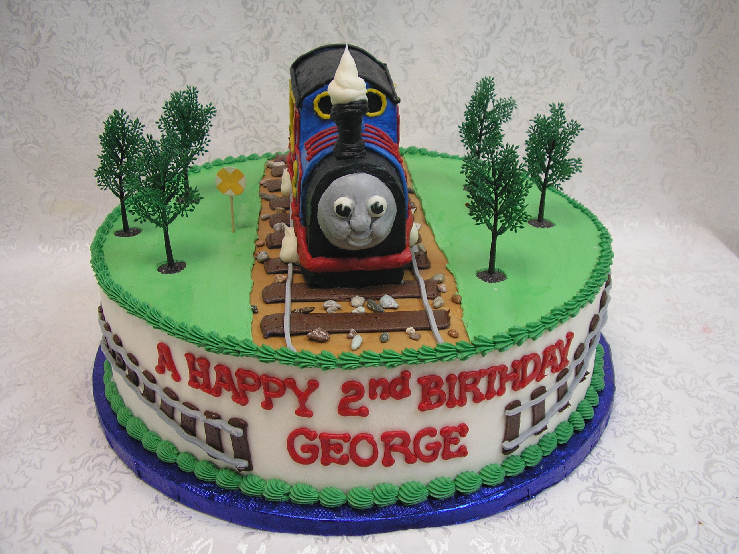 3D thomas the tank engine cake