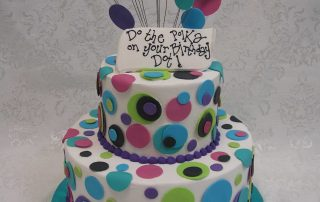 multi tier polka dot cake