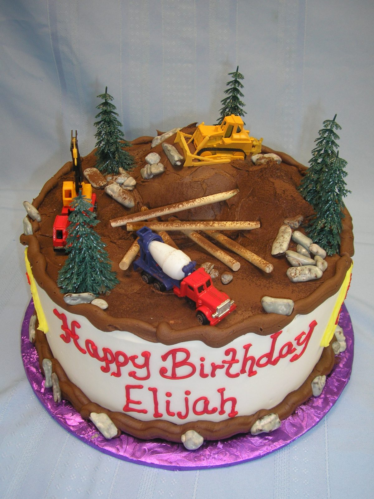 construction cake, construction equipment cake