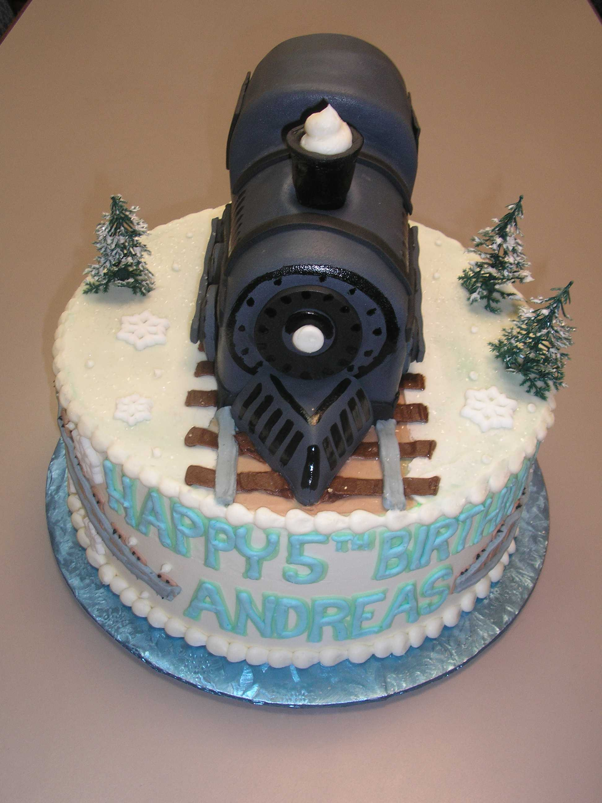 christmas cake, polar express cake