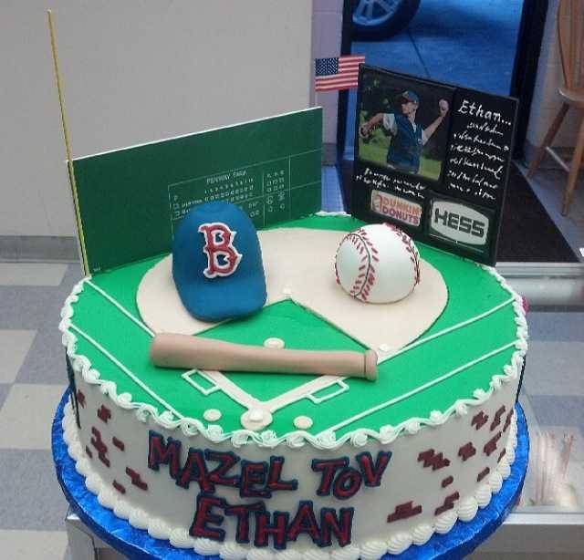 fenway park cake, baseball cake