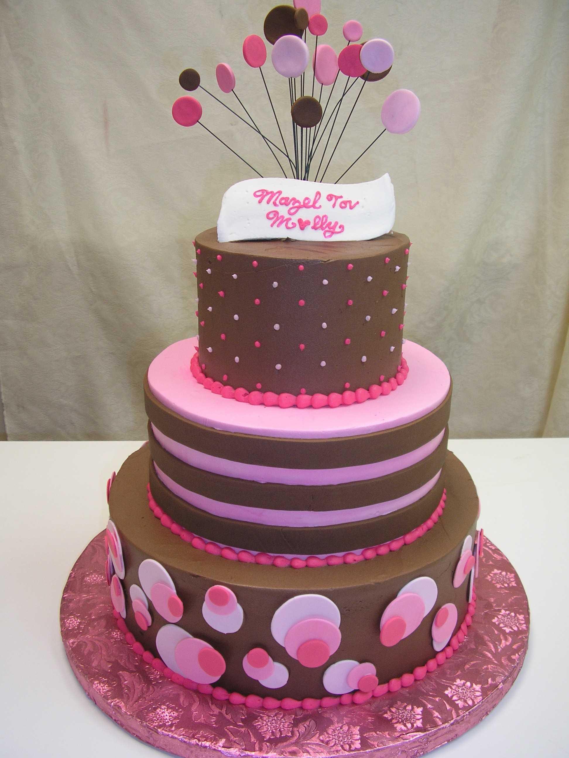 multi tier polka dots cake
