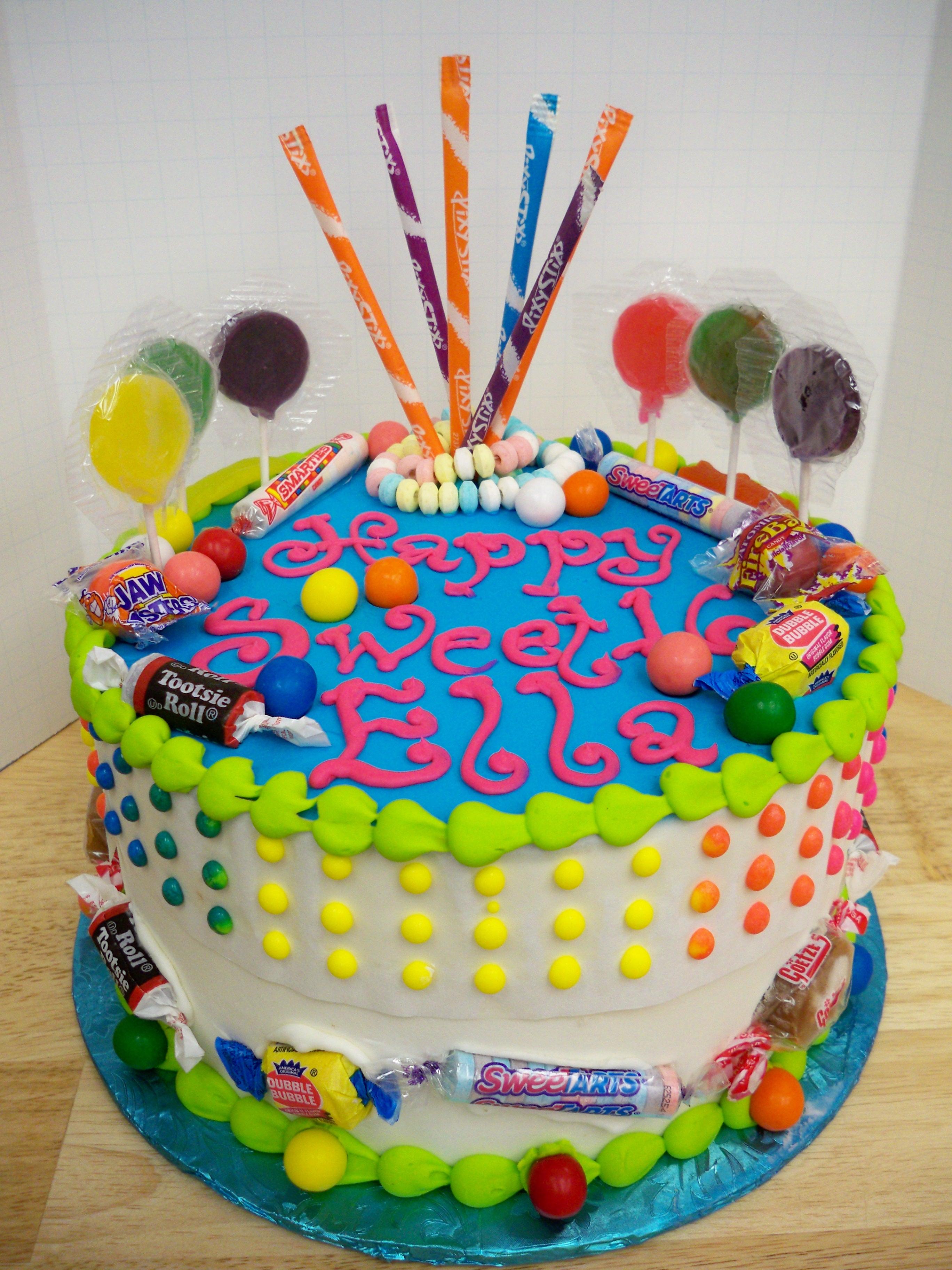 penny candy cake, candy cake, candy birthday cake