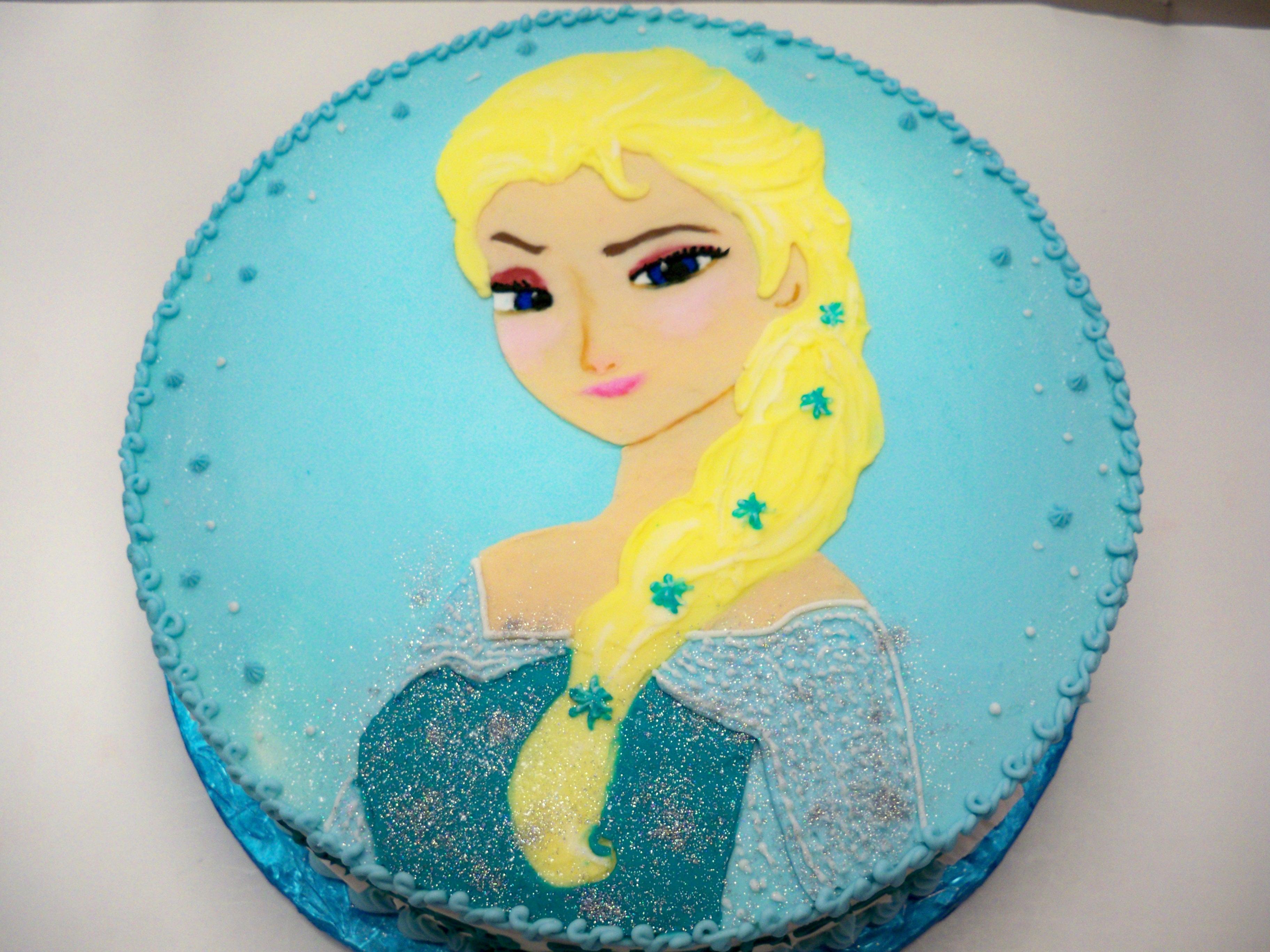 elsa cake, disney frozen cake, elsa
