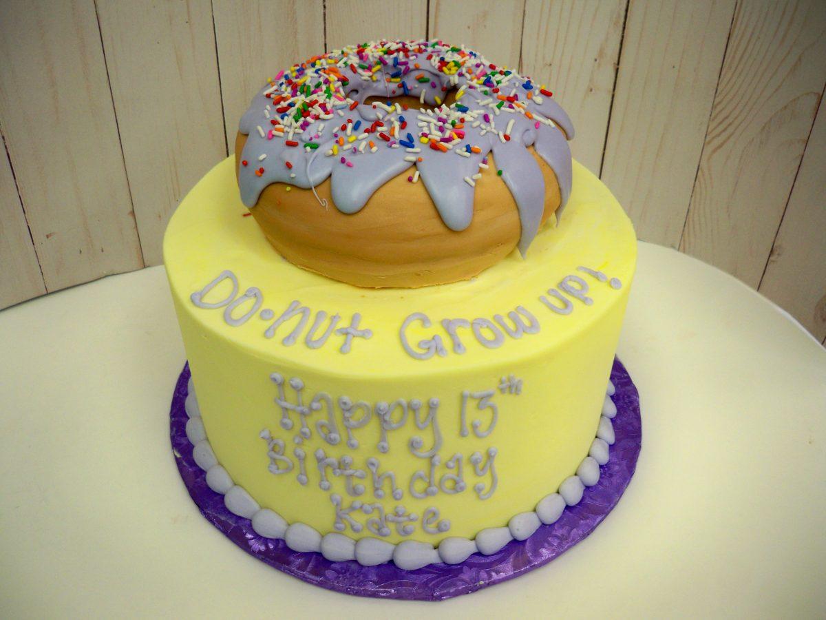 donut cake, 3D donut cake
