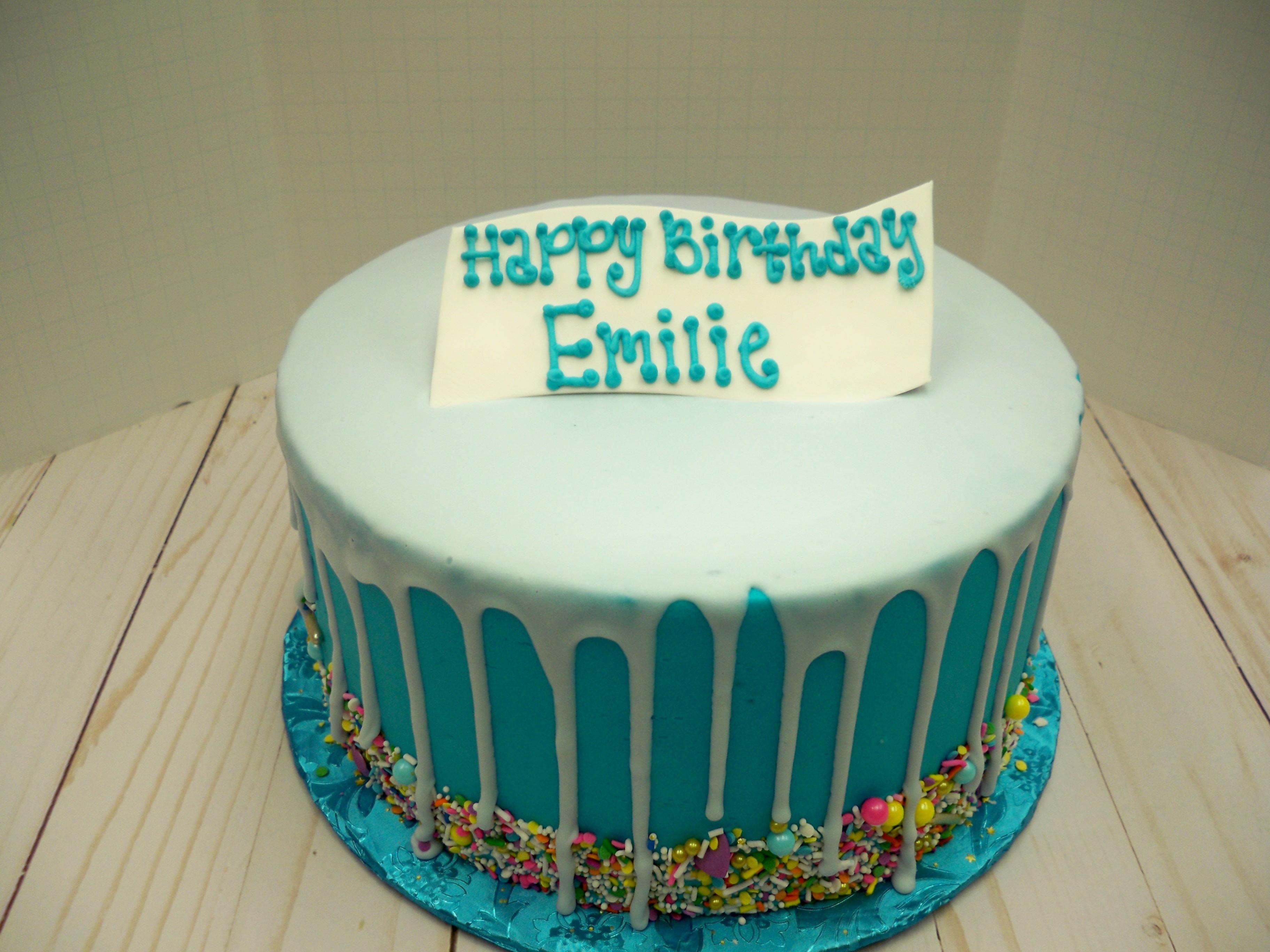 drip cake, blue drip cake