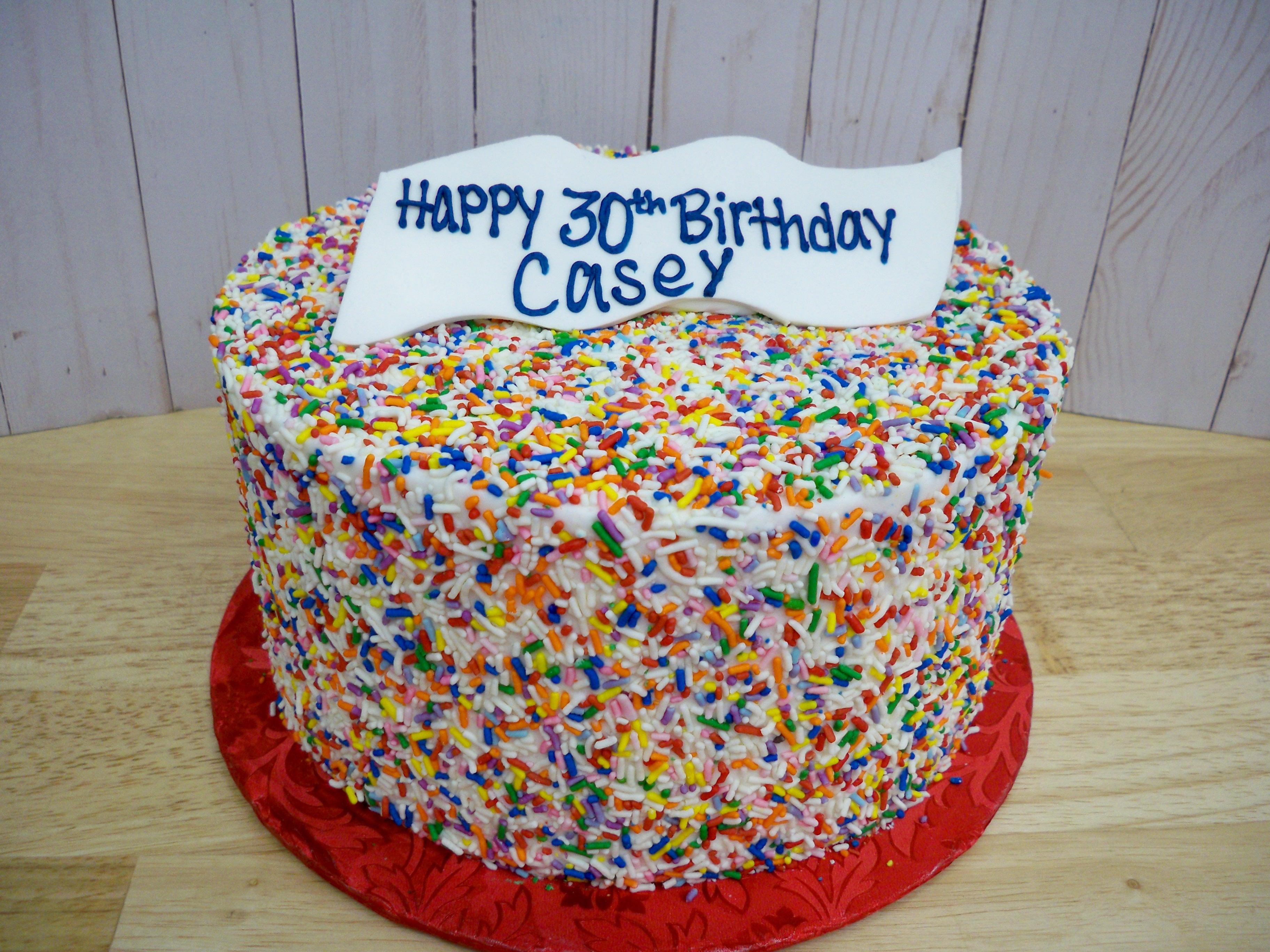 sprinkle cake, all over sprinkle cake