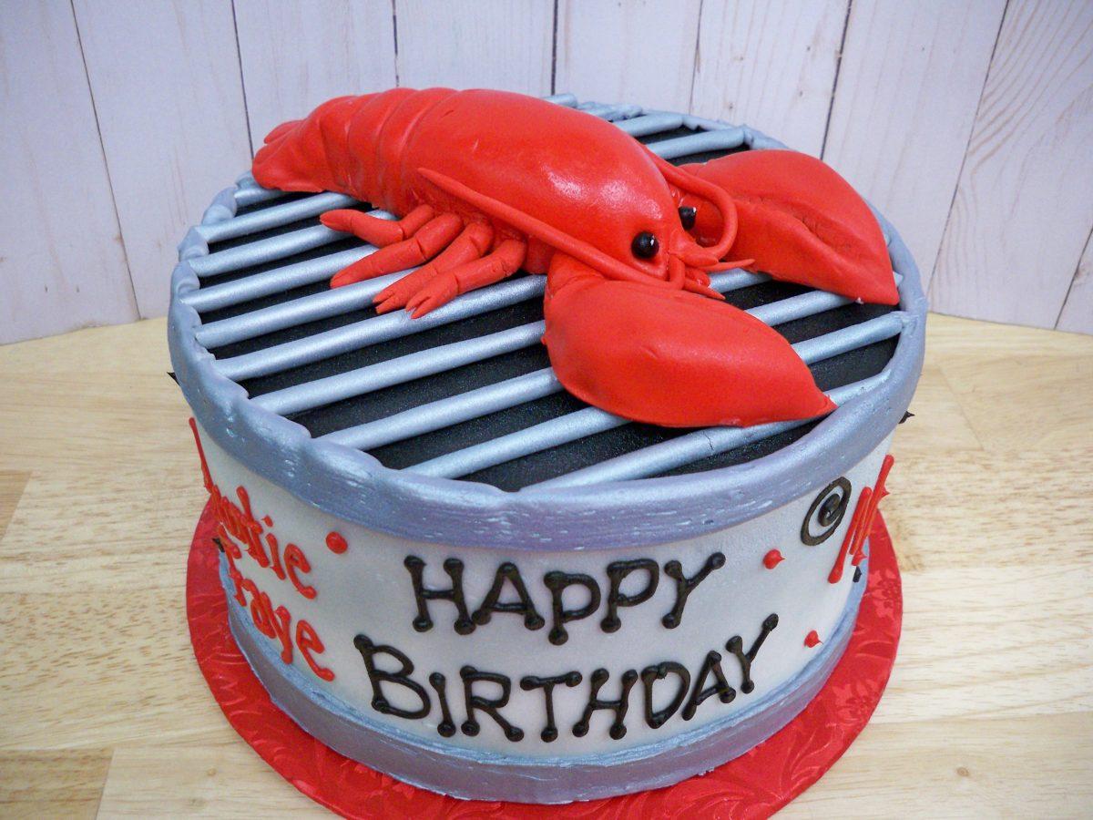 lobster birthday cake, 3D lobster cake