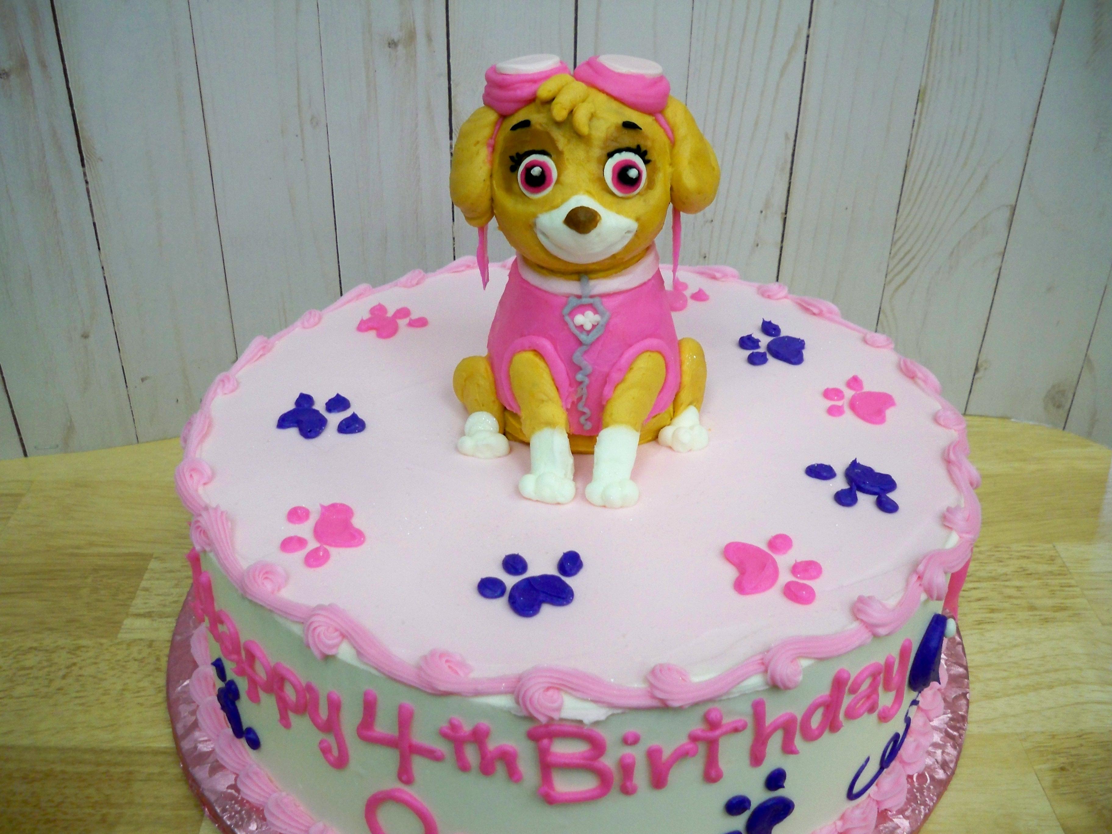 Paw Patrol cake, sky cake