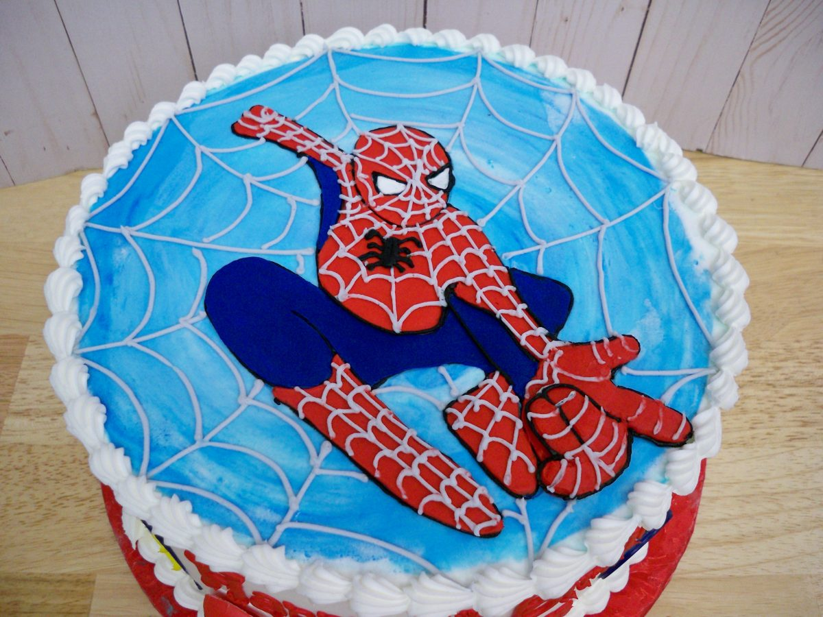 spiderman cake, superhero cake