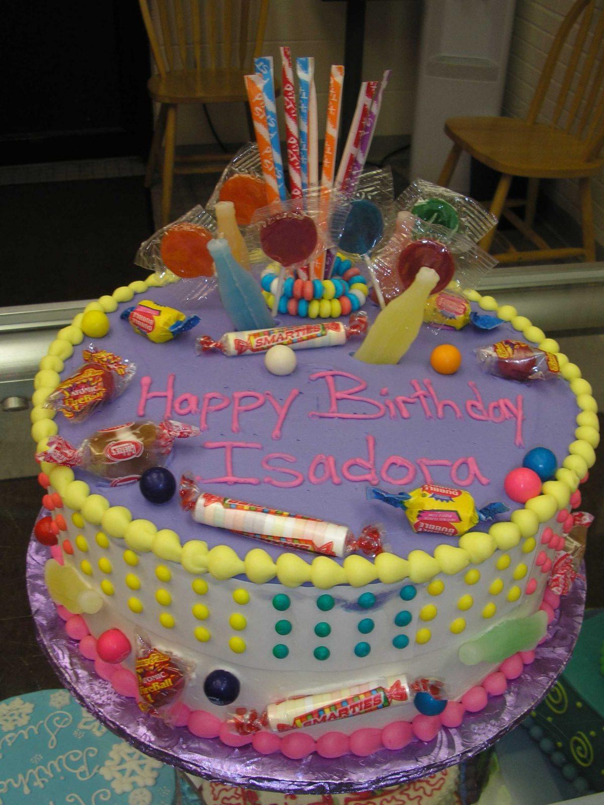 penny candy design cake, smartees. gumballs, lollipops