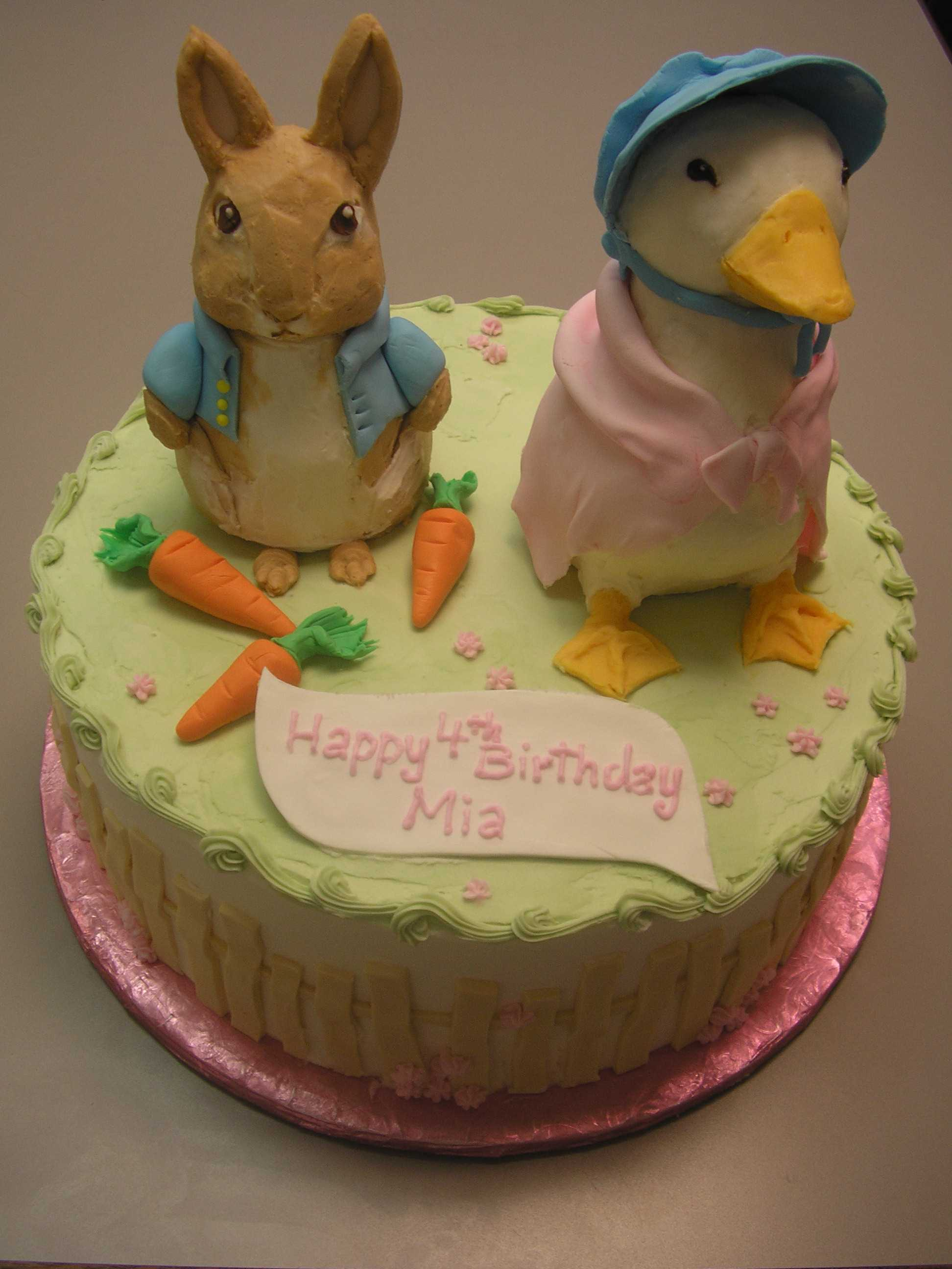 3D Beatrix Potter cake