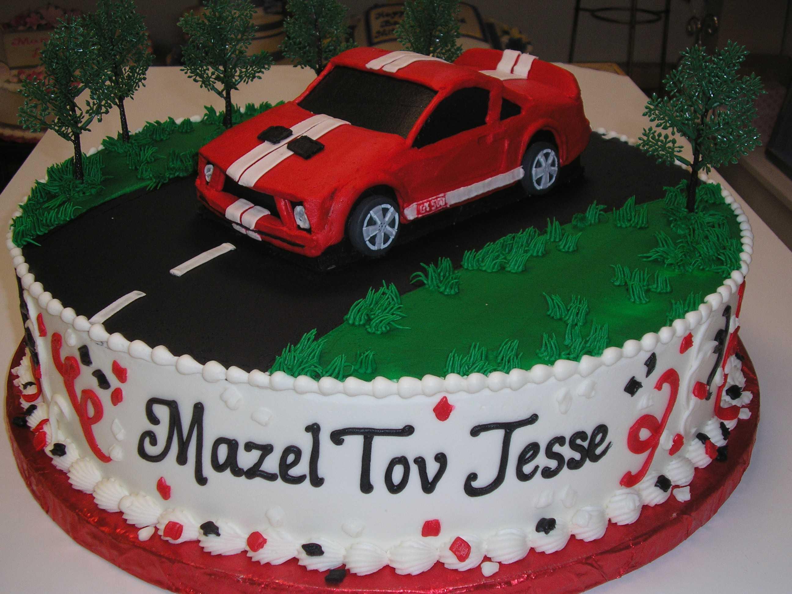mustang cake, mustang gt cake, racing car cake