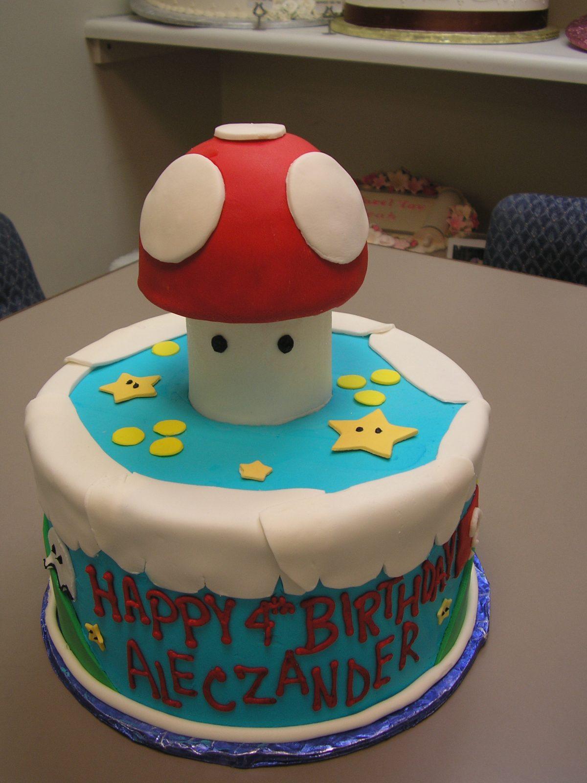 mario mushroom cake, 3D mario mushroom cake
