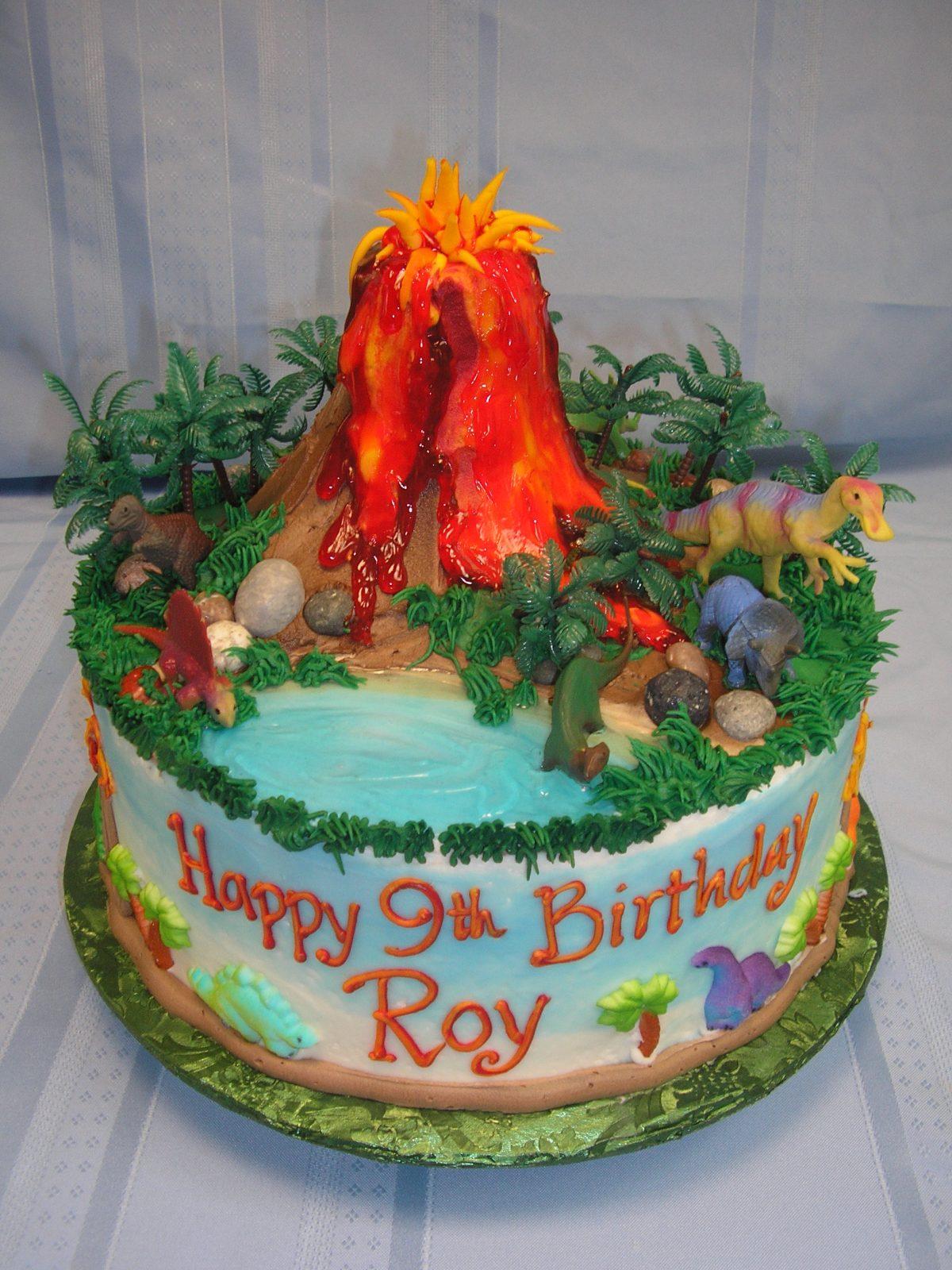 3D volcano cake