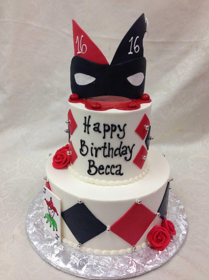 joker cake, harlequin cake