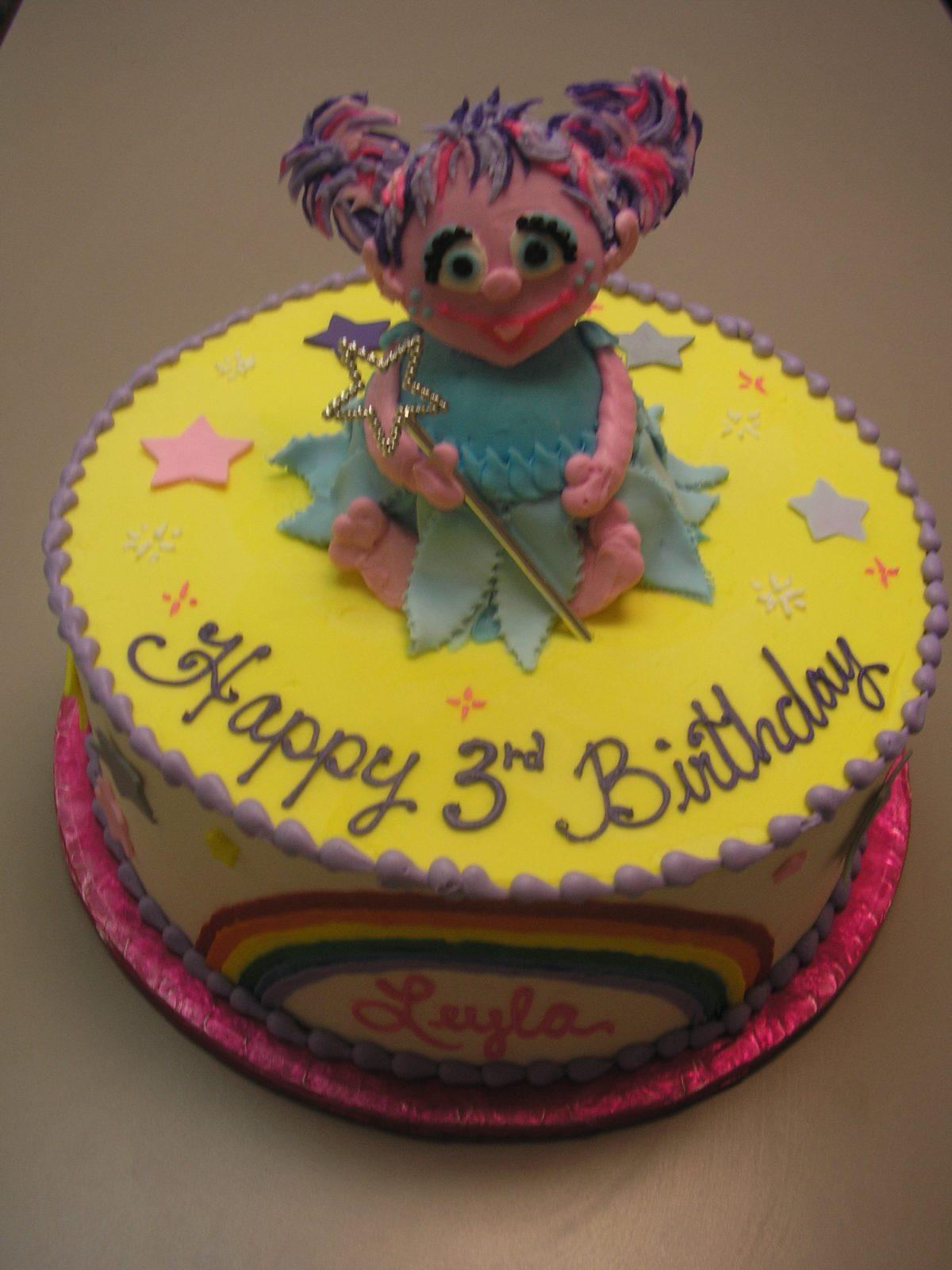 3D cake, Abby Cadabby, Sesame Street cake