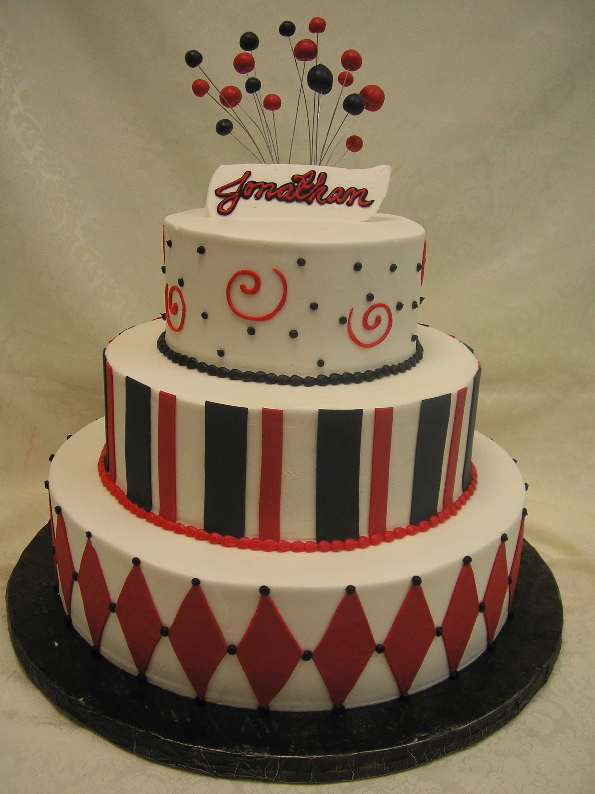 stripe cake, dot cake