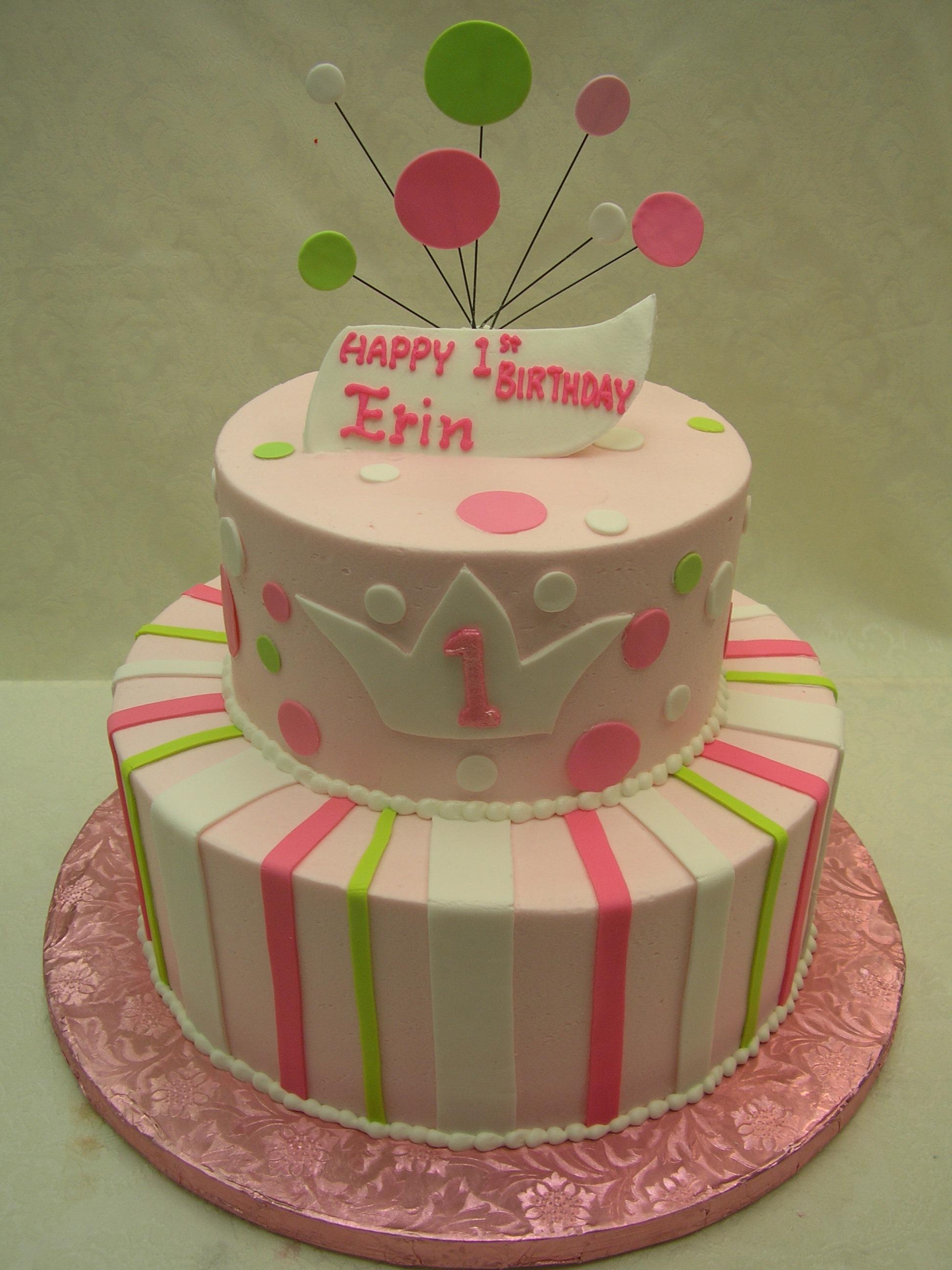 2 tier cake, polka dots, crown