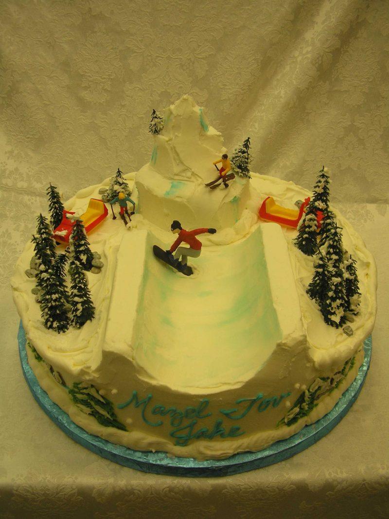 snowboard half pipe cake