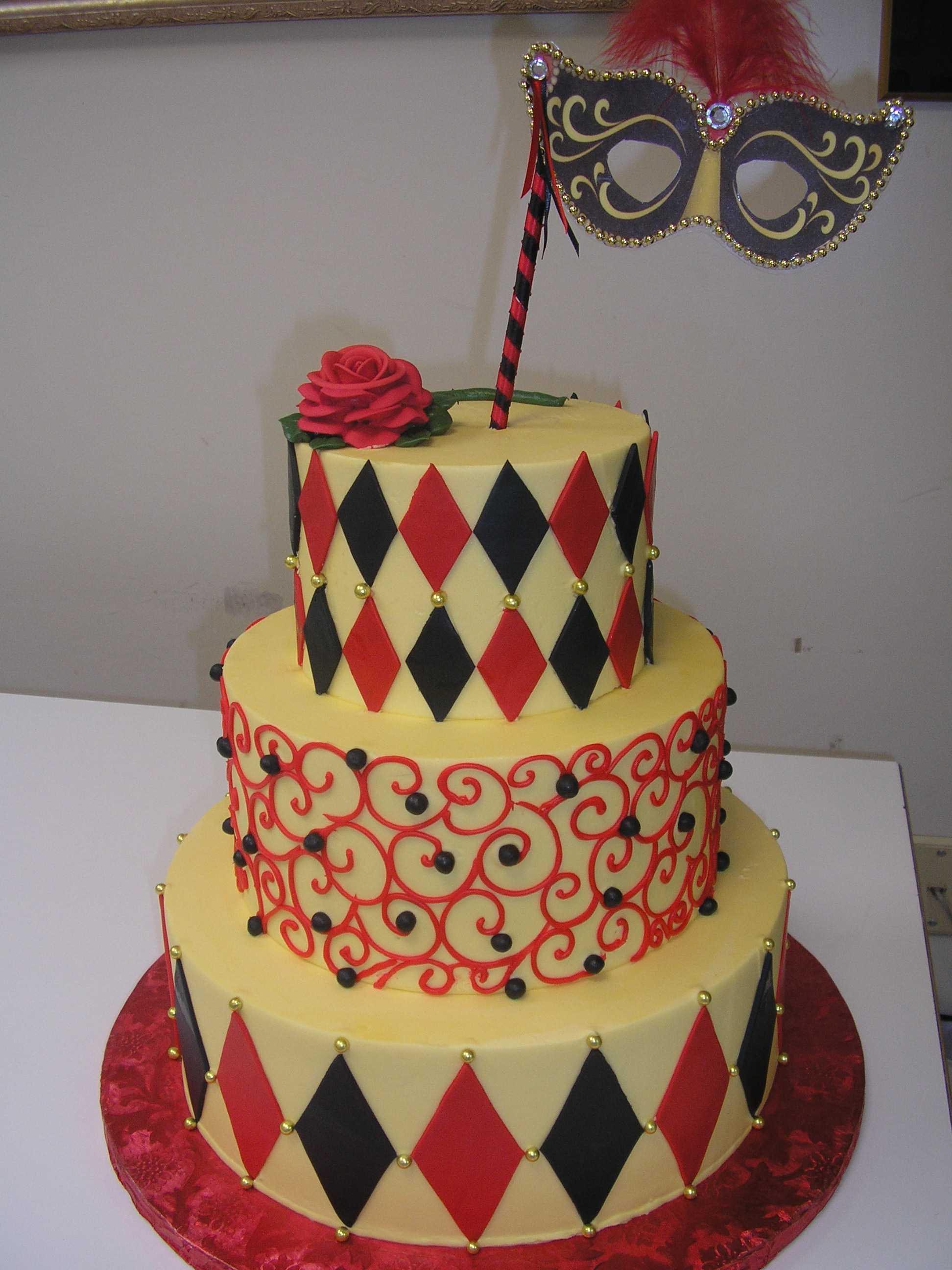 multi tier masquarade cake