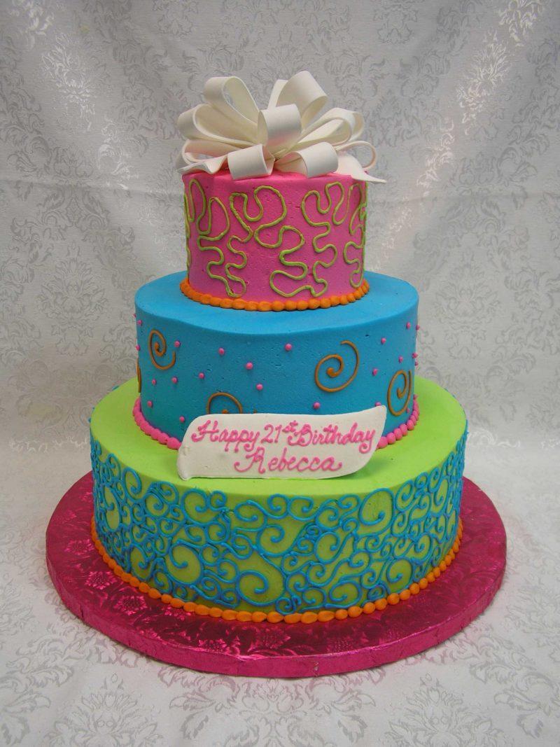 MULTI TIER GIFT BOX CAKE