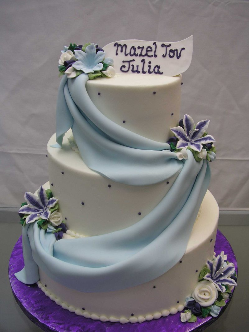 multi tier cake, draped cake