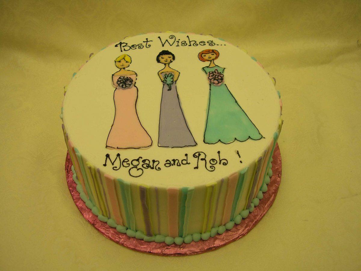 bridesmaid wedding shower cake