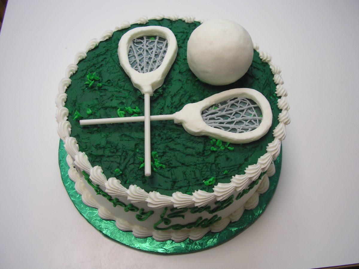 3D lacrosse cake