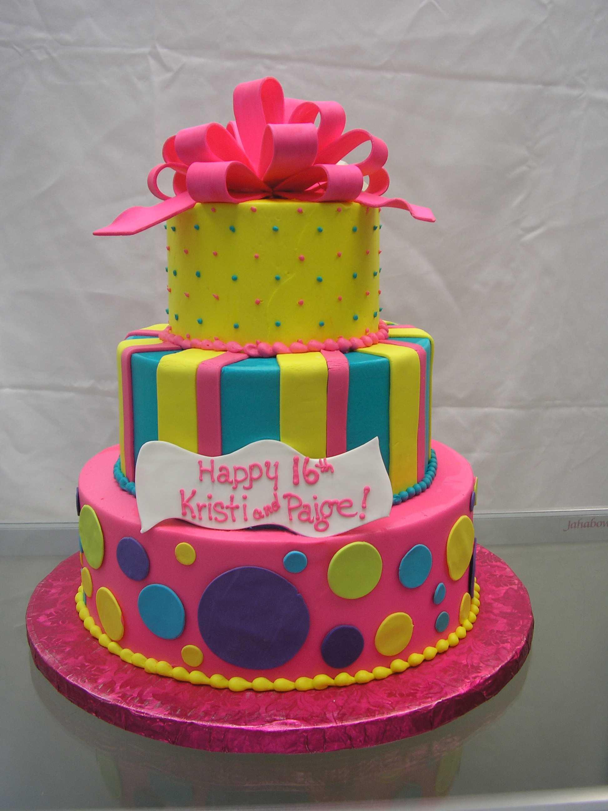 striped cake, polka dot cake, multi tier cake