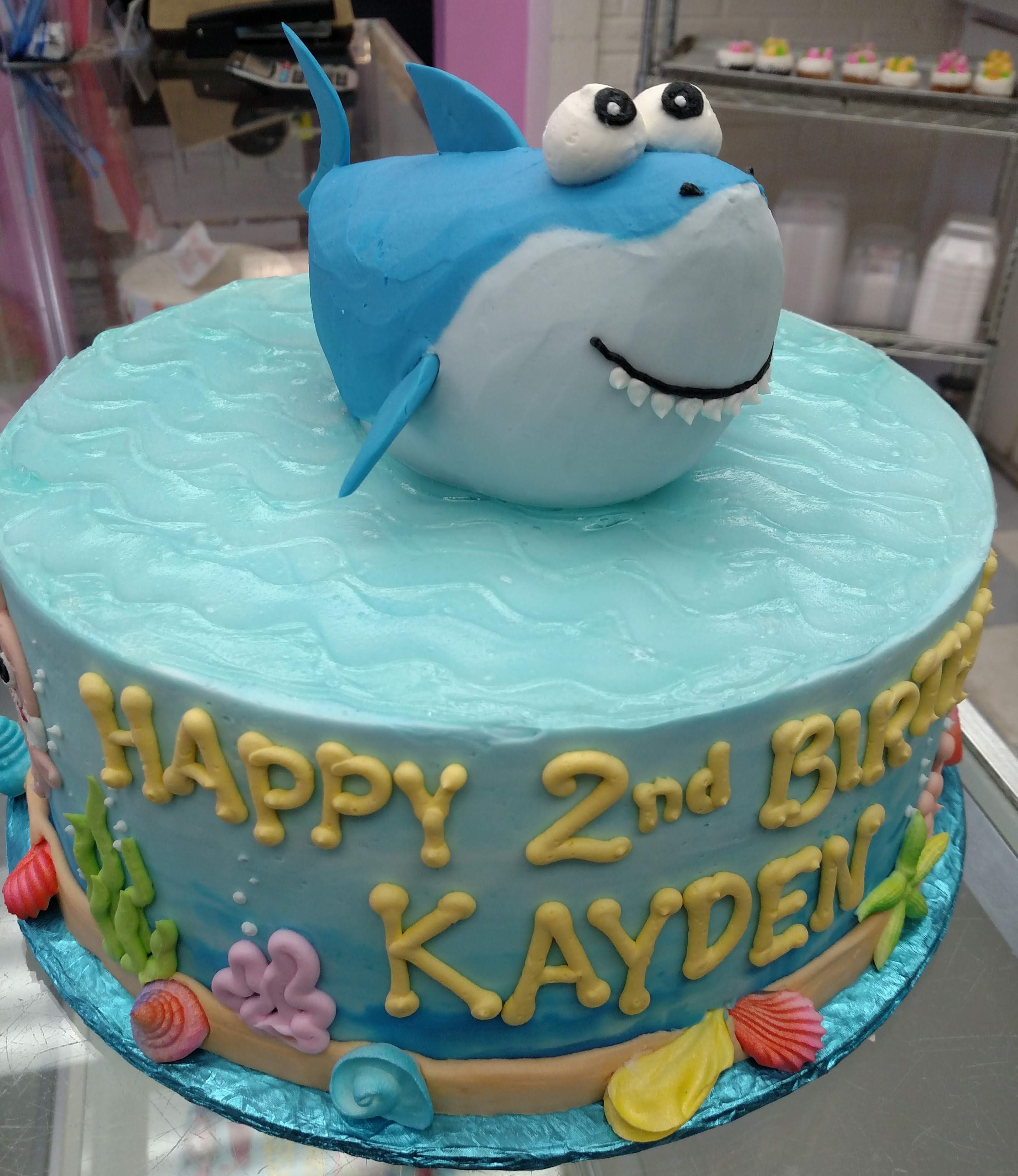 baby shark cake, baby shark birthday cake