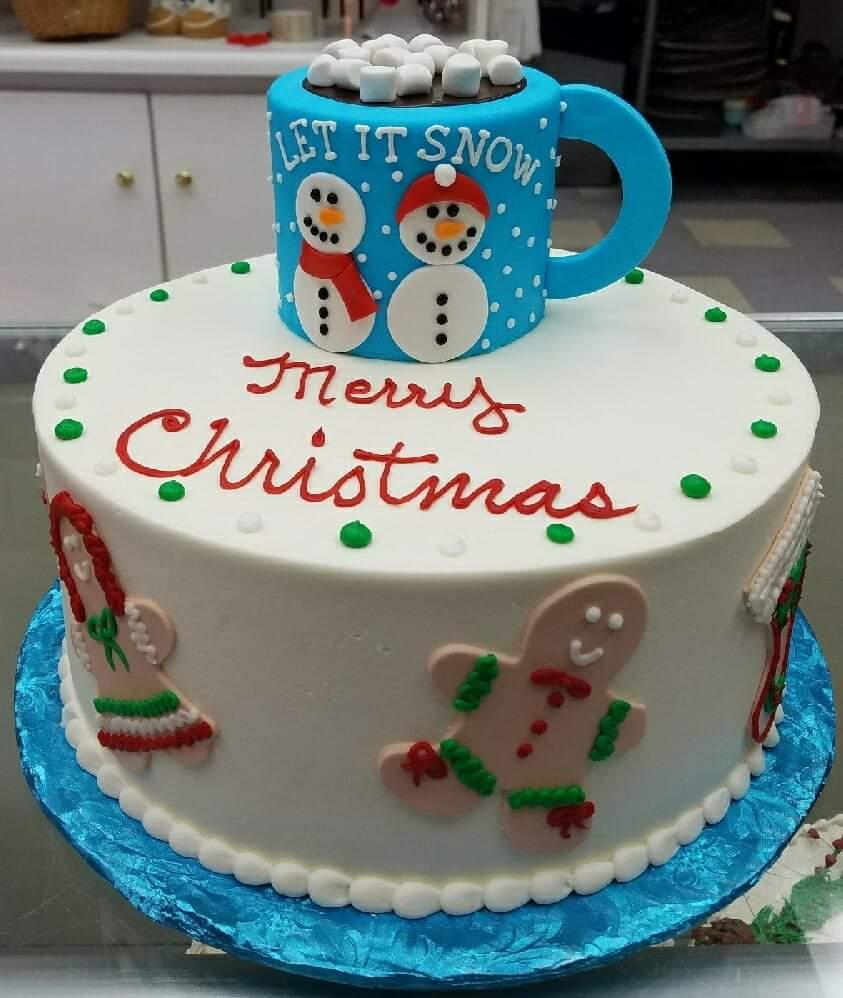 christmas cake, holiday cake