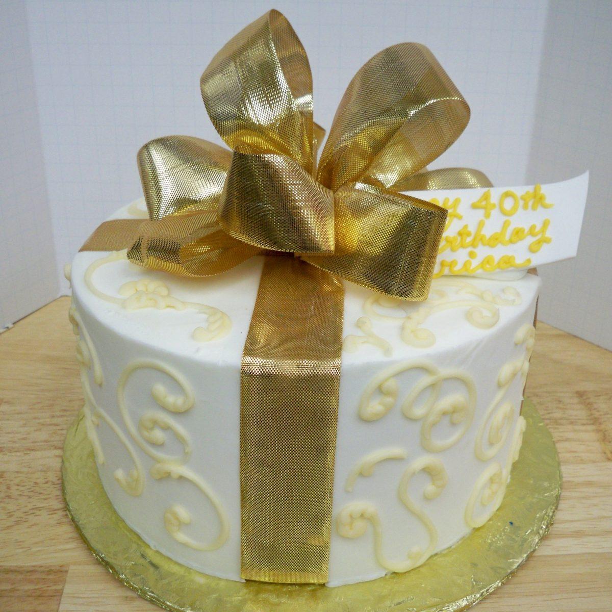 gift box cake, birthday cake, anniversary cake