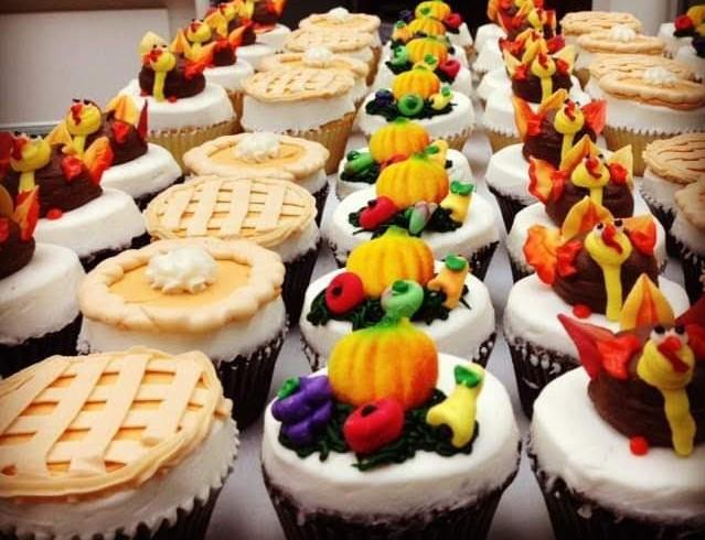 thanksgiving treats, cupcakes, thanksgiving cupcake