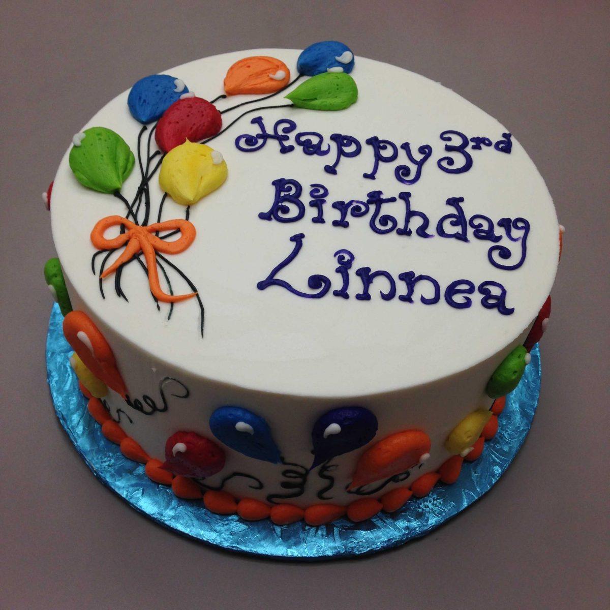 balloon design birthday cake