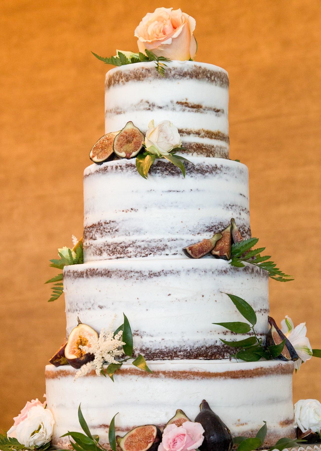 barely naked wedding cake
