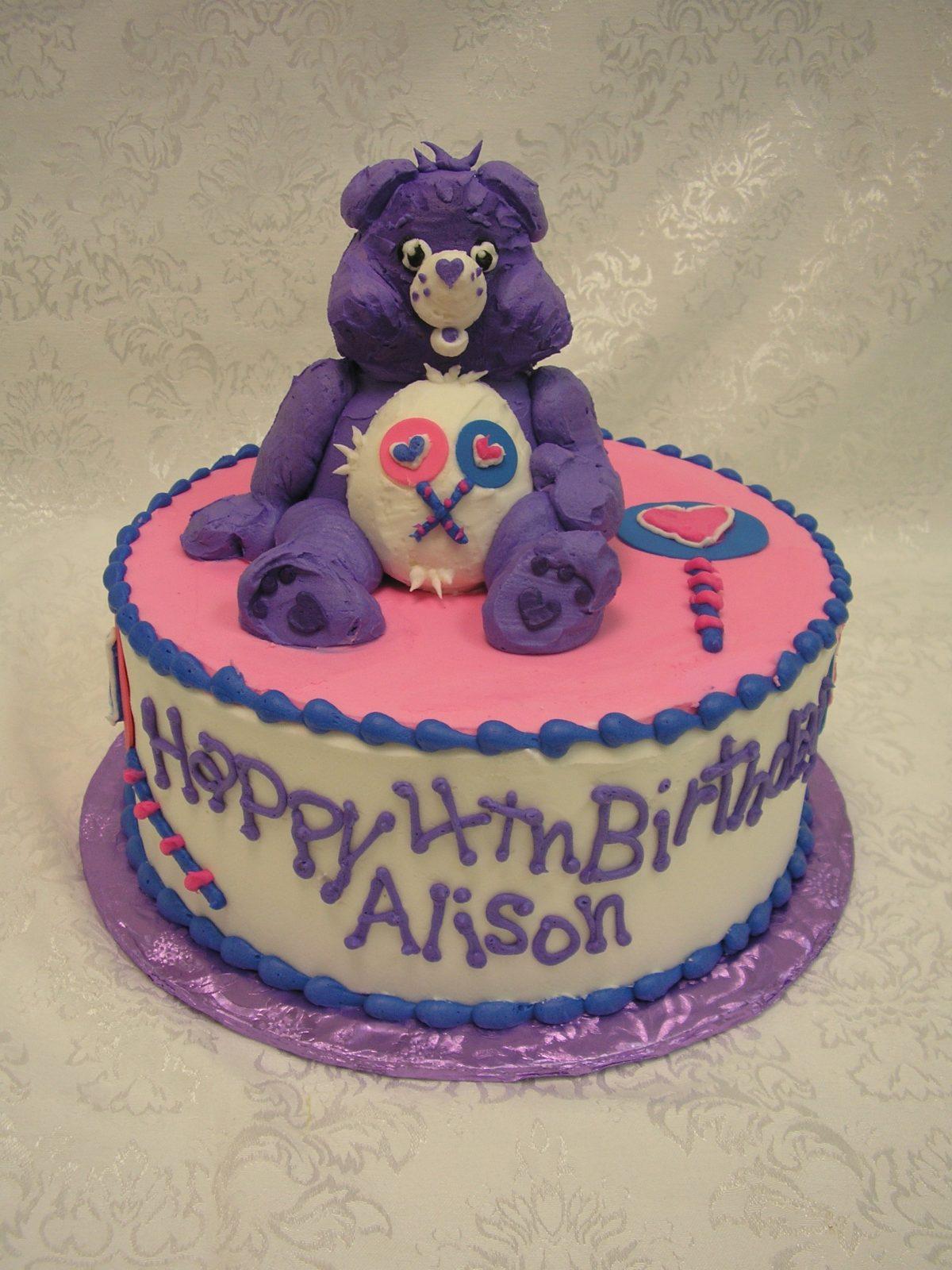 3D care bear cake