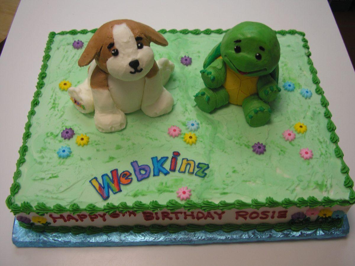 3D webkinz cake